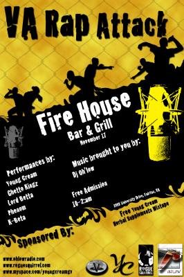 Party flyer for live entertainment at the Fire House Bar and Grill **Photoshop**