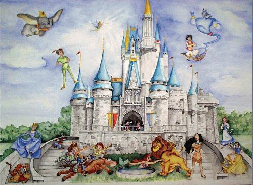 Artistportfolio net free online gallery creation tool for Disney wall mural