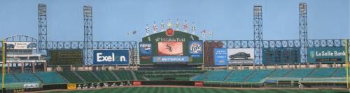 Foul Pole to Foul Pole of the home of the White Sox, Painting has sold but prints are available