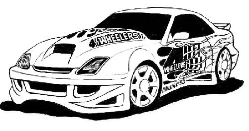 Tuner Car Coloring Pages : Car wash shop colouring pages